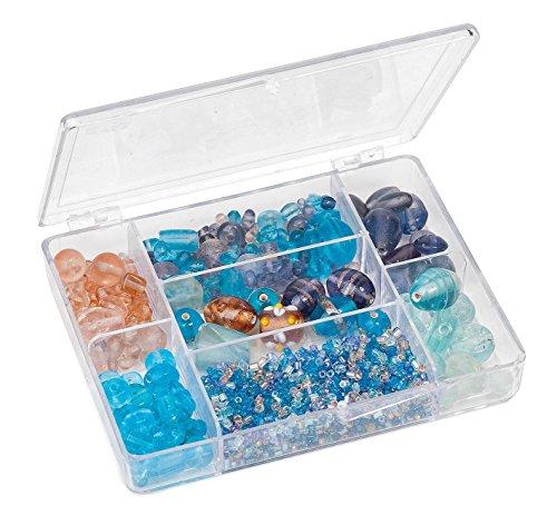 Caja de Perlas de Cristal, de Rayher, Distintos Colores y tamaños, 115 g, Lagune