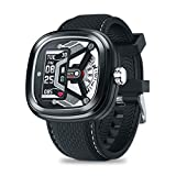 RONSHIN Zeblaze Hybrid 2 Dual Smartwatch Heart Rate Blood Pressure Health Monitor 50M Waterproof Exercise Tracking Smart Watch Men Black