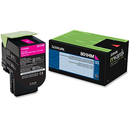 Lexmark 80C1HM0 801HM - High Yield - magenta - original - toner cartridge LCCP, LRP - for Lexmark CX410de, CX410dte, CX410e, CX510de, CX510dhe, CX510dthe