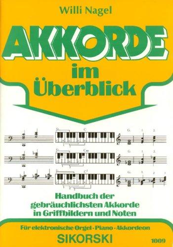 Akkorde im Ueberblick. E-Orgel, Keyboard