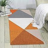 Area Carpet Runner 60 x 180 cm pizarra naranja triángulo wholecloth moderna alfombra para dormitorio piso sofá salón