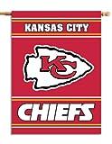 "Fremont Die NFL Kansas City Chiefs 2-Sided House Flag, 28"" x 40"", 28"" x 40"", Team Colors"