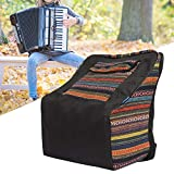 Nannday 【𝐒𝐞𝐦𝐚𝐧𝐚 𝐒𝐚𝐧𝐭𝐚】 Estuche de acordeón, Funda de acordeón de Piano de Estilo rústico Mochila de acordeón Acolchada para 48 acordeones de bajo y 120 Bajos