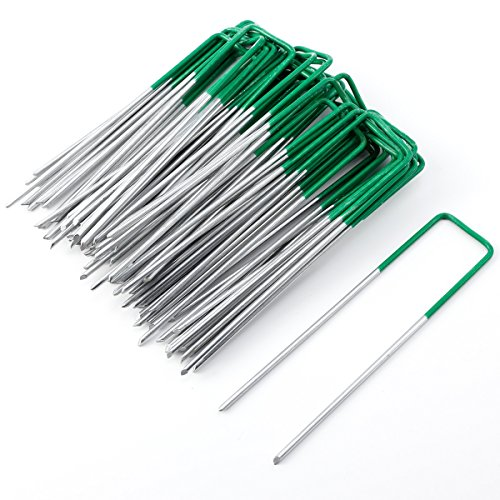 Surepromise 50x 15* 3cm Media verde anclajes anclajes para césped artificial Maleza piqueta (Estaca Fijación 3mm de grosor