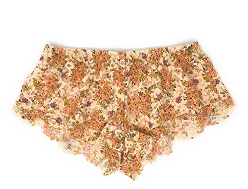 Victoria's Secret Body by Victoria Lace Sleep Short X-Small Nude Floral