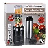 GOURMETmaxx Smoothie Maker 300W aus Edelstahl ( zum Hacken, Mixen, Mischen, Pürieren und Mahlen, 600ml )