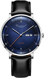 Automatic Watches for Men Carnival 8894G Dress Watch with Japan Movement