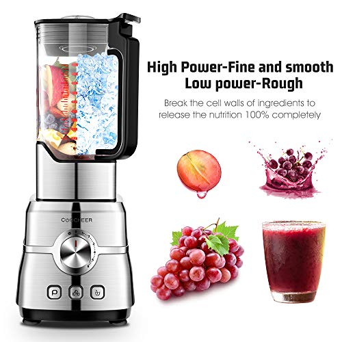 Blenders Smoothie Maker, COOCHEER 2000W High Speed Stand Mixer 35000 U/min Professional Shakes Blender, Grinder and…