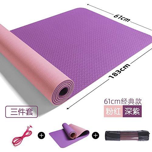 GEGAG Yogamat voor beginners Thuismat voor dames en heren Verdikking Verbreding Verlenging Fitness Yogamat Antislipmat Oefening