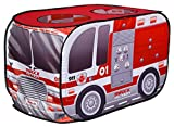 Sunny Days Entertainment Pop Up Fire Truck – Indoor Playhouse for Kids | Red Engine Toy Gift for Boys and Girls, Multi
