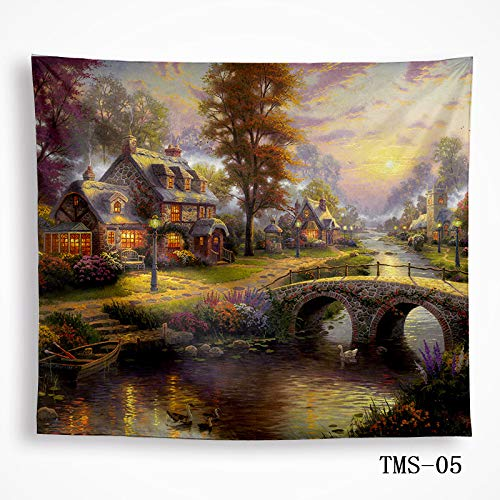 mmzki Tapisserie Tapisserie Tischdecke Wandbehänge Wanddekoration Landschaftsbilder 5 229x150