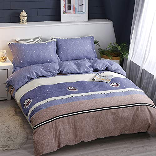 GYHJG 4Pcs Bedding Double Bed, Quilt Cover, Sheet, Pillowcase, Polyester Fiber, Soft And Comfortable Pure Cotton Quilt Cover