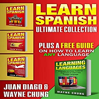 Learn Spanish: 4 Books in 1! cover art