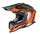 Just 1 Helmets - Casco Motocross J12, Nero/Arancione, S