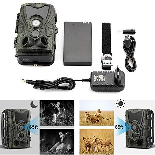 Peaches Stores - Cámara de caza con detector de movimiento auditivo Hd WLAN cámara salvaje Ip66 impermeable cámara de vigilancia con 2ª Pantalla LCD