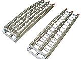 ART - Pack De 2 Rampes De Chargement Art Pliables En Aluminium Pour Moto & Quad 2M30