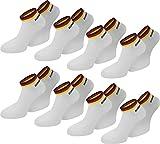 normani 8 Paar Deutschland Sneakers aus Baumwolle Farbe Weiß Größe 43/46