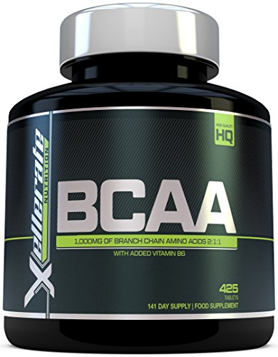 BCAA Tablet 1000mg | 425 Tablets - 3000mg Daily Serving | 141 Day Supply | 2:1:1 BCAAs Branch Chain Amino Acids + B6 | Ingredients Include L-Leucine, L-Isoleucine, L-Valine by Xellerate Nutrition