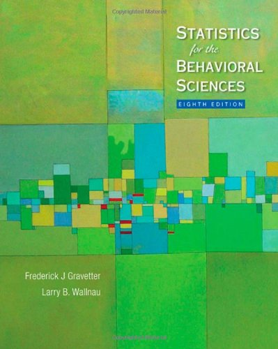 Statistics for the Behavioral Sciences (Available Titles...