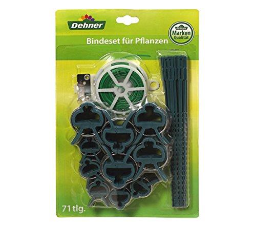 Dehner Bandes Fil Kit avec, Plante Attache-câbles et Plante de Tailles différentes de Plantes Clips