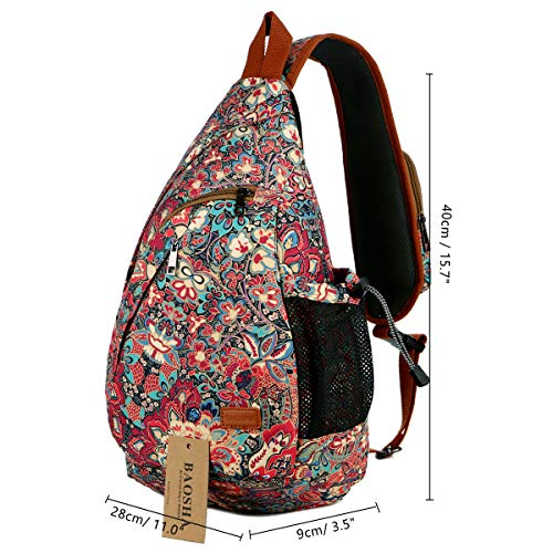 BAOSHA Sling backpack Crossbody Shoulder Chest Bag Travel Hiking Daypack for Women XB-04