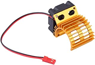 Tbest RC Heat Sink, Motor Electric Heatsink RC Motor Radiator with Cooling Fan for 1/10 Scale RC Car