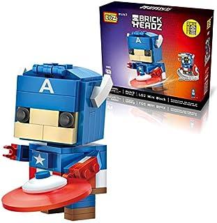 Happytoys LOZ Blocks Captain America Action Figure Toy