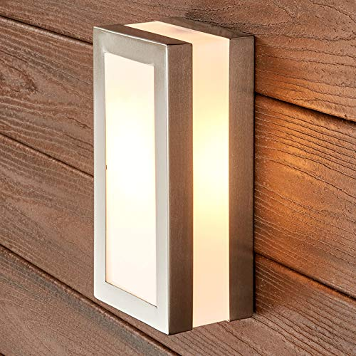 Applique da esterni 'Odis' (Moderno), (1 luce, E27, A++) di Lindby | applique da esterni in acciaio inossidabile, applique, lampada per esterni, applique outdoor per giardino, applique per