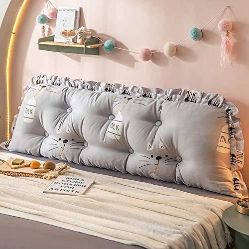 XBSLJ Upholstered Headboard Backrest Pillow,Large Bolster Positioning Support Wedge Cushion Tatami Bedside Lumbar Support Pillow Reading Backrest Cushion