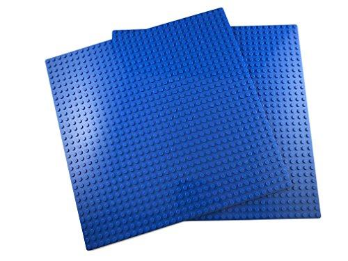 Bloques De Construcción Placas Base Clásica Compatibles con Todas Las Principales Marcas (2x Azul)