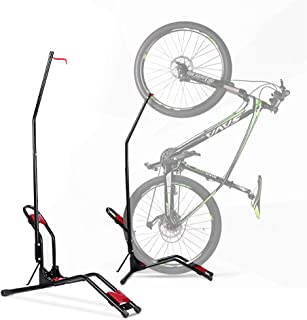 Bike Floor Stand - Indoor Vertical/Horizontal Bicycle Storage Rack Space Saving Easy to Install No Need to Damage Wall Fit...