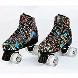 Patines enrollables Patines de rodillos de doble fila al aire libre para adultos, zapatos clásicos de alta rueda Patines en línea de cuatro ruedas con ruedas iluminadas Patines al aire libre para niña
