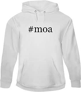 #moa - Men's Hashtag Pullover Hoodie Sweatshirt, White, Medium