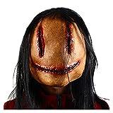 WWWL Mascara de Halloween Máscara de Fiesta de Horror de Halloween máscara de Fiesta Sangriento Horror Sonriente Cosplay Trajes de Vestuario (Color : X24052, Size : M)