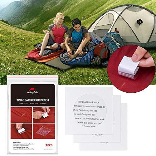 Sunnyushine - 12 Parches Flexibles Impermeables de TPU para Tiendas de campaña, Mochilas, toldos, guarniciones y colchones inflables