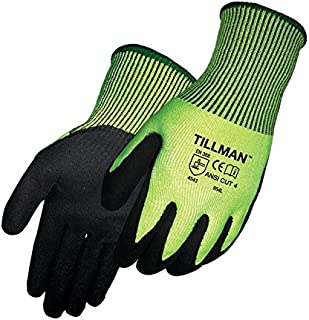John Tillman #954 Sandy Nitrile Cut Resistant Gloves Size Large