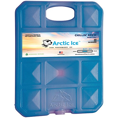 1 - CHILLIN FREEZER PK 2.5LBS, Chillin' Brew Series Freezer Packs (2.5lbs), Designed with the beer drinker in mind but excellent for cooling anything in a cooler, 28° beer-cave cold, Thermochromatic 'smart' temperature sensor, Rugged UV stabilized color container, Nontoxic & biodegradable …