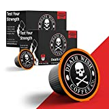 DEATH WISH Death Cups [20 Count] Single Serve Coffee Pods, Dark Roast Capsules, For Capsule Cup Brewers, USDA Certified Organic, Fair Trade, Arabica and Robusta Beans