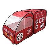 Kinderzelt Auto Spielzelt Pop Up Spielhaus - Kinder Indoor Outdoor Spielzeug - Rot - 140 x 70 x 70cm