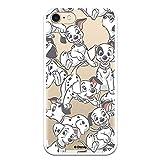 Funda para iPhone 7 - iPhone 8 - iPhone SE 2020 Oficial de 101 Dálmatas Cachorros Siluetas para Proteger tu móvil. Carcasa para Apple de Silicona Flexible con Licencia Oficial de Disney.