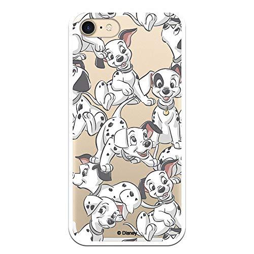 Funda para iPhone 7 - iPhone 8 Oficial de 101 Dálmatas Cachorros Siluetas para Proteger tu móvil. Carcasa para Apple de Silicona Flexible con Licencia Oficial de Disney.
