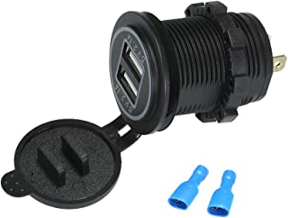 GoolRC 12 V Dual USB Tomada Carregador de Energia À Prova D 'Água 5 V / 4.2A LED Indicador para o Carro RV Barco Motocicle...