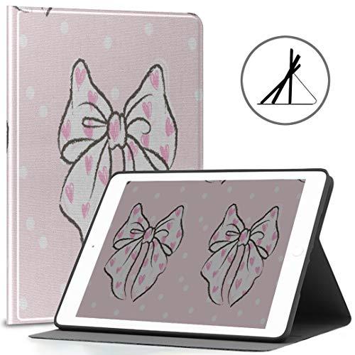 Funda Protectora para iPad 9.7 Pink Girl Love Arco en Forma de corazón 2018/2017 iPad 5ta / 6ta generación Funda para Tableta iPad 9.7 También se Ajusta a iPad Air 2 / iPad Air Auto Wake/s