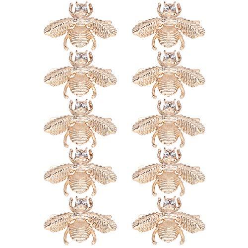 Cuque Décoration de Chaussure, 10 pièces de décoration de Sac en Alliage de Zinc-Fer Boucle décorative de Chaussure(Little bit Drill Bee ML-0071)