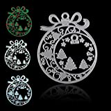 Christmas Ornament Die Cuts Metal Die Cuts for Card Making Christmas Tree Cutting Dies Metal Stencils for Crafts Christmas Tree DIY Stencils Template Layering Background Dies for Embossing Crafts
