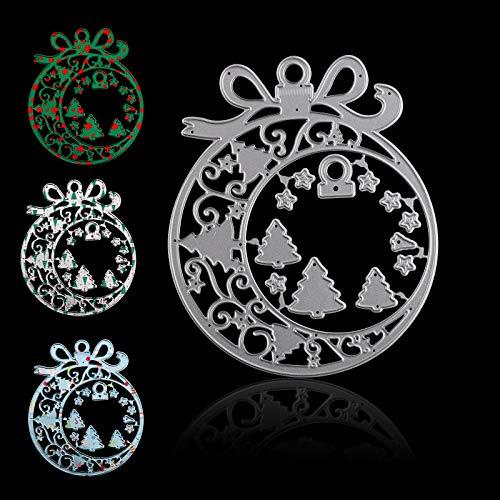 Troqueles de adorno navideño Troqueles de metal para hacer tarjetas Troqueles de corte de árboles de Navidad Plantillas de metal para manualidades Plantillas de bricolaje para árboles de capas fondo