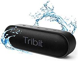 【最新型】Tribit XSound Go Bluetooth スピーカー IPX7完全防水 ポータブルスピーカー 24時間連続再生 16W Bluetooth5.0 ブルートゥーススピーカー TWS対応 低音強化/内蔵マイク搭載 ブラック