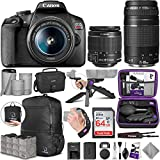 Canon EOS Rebel T7 DSLR Camera and Canon EF-S 18-55mm + Canon EF 75-300mm Lens with Altura Photo Advanced Accessory and Travel Bundle
