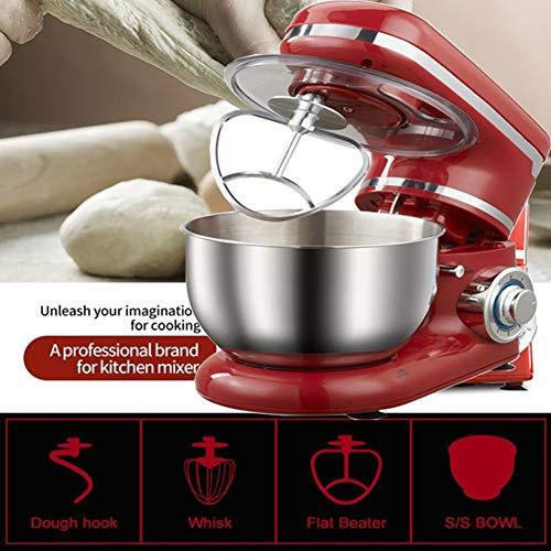OOFAT Robot De Cocina, Eléctrico Batidora De Pie, 1200W, 4,5 L, De Acero Inoxidable del Recipiente De Mezcla, Control Total, Paquete De Accesorios, Temperatura...