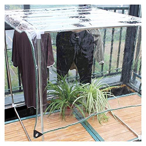 N\A LIJINBO Lonas Impermeables Exterior,Lona De Alta Resistencia PVC 100% Transparente Completamente Impermeable Esquina Reforzada con Ojal Adecuado para Pabellones, Techos, Muebles De Jardín